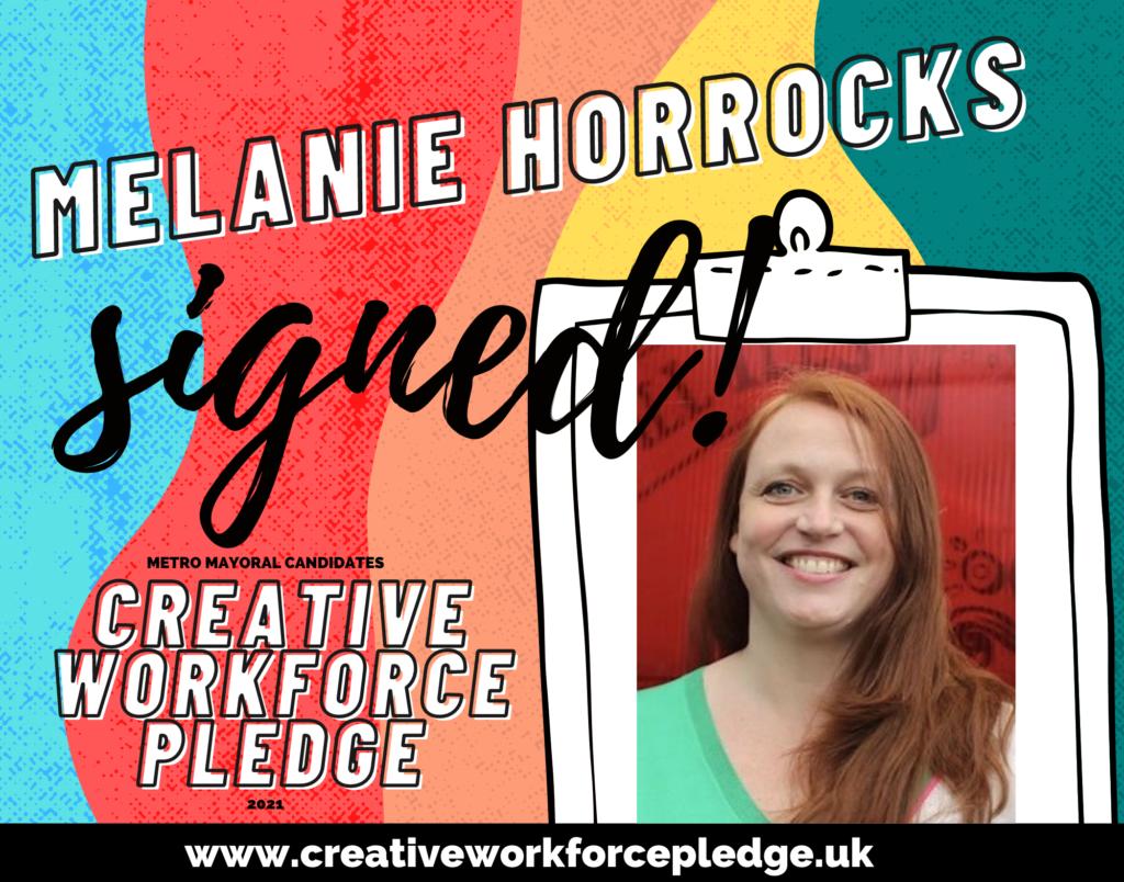 Melanie Horrocks (Greater Manchester, Green) signed