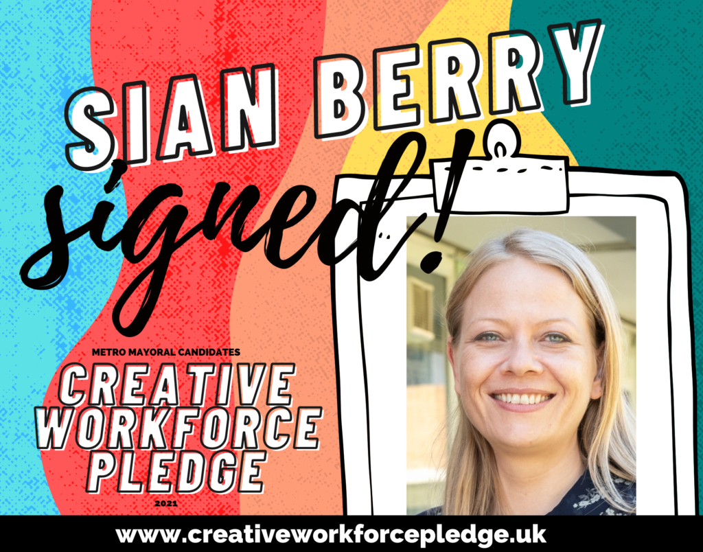Sian Berry (London, Green) signed